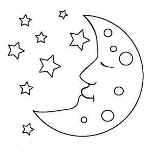 Sleeping Moon Moon Moon Is Sleeping Coloring Page Moon Is