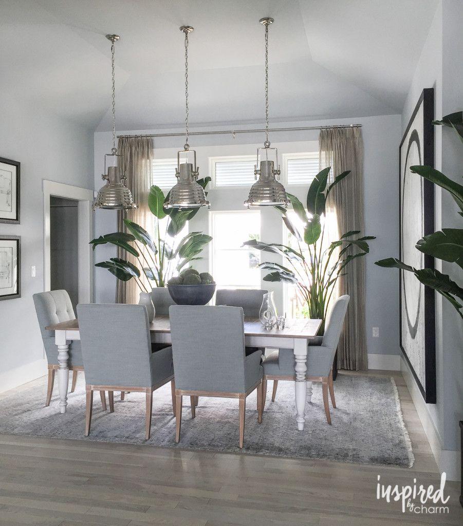 Hgtv Dining Room Lighting: Coastal Inspired Dining Space. Love The Three Pendant