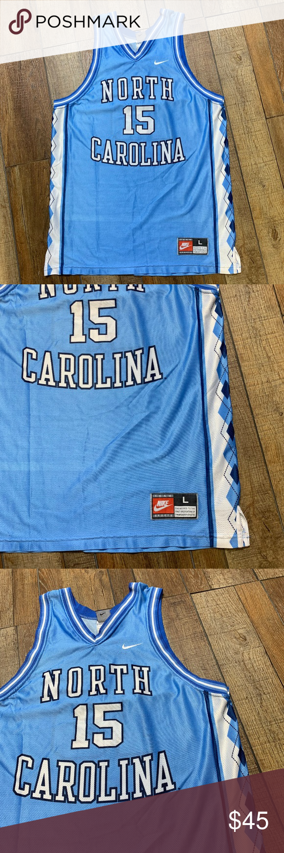 751a9e5689e4 Vince Carter UNC Tarheels Vintage Nike NCAA Jersey Vince Carter  15 North  Carolina Tarheels 1996-97 College Basketball Season Perfect Condition  Authentic ...