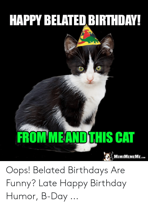 Happy Belated Birthday Cat : happy, belated, birthday, Belated, Birthday, Meme,, Happy, Birthday,, Memes