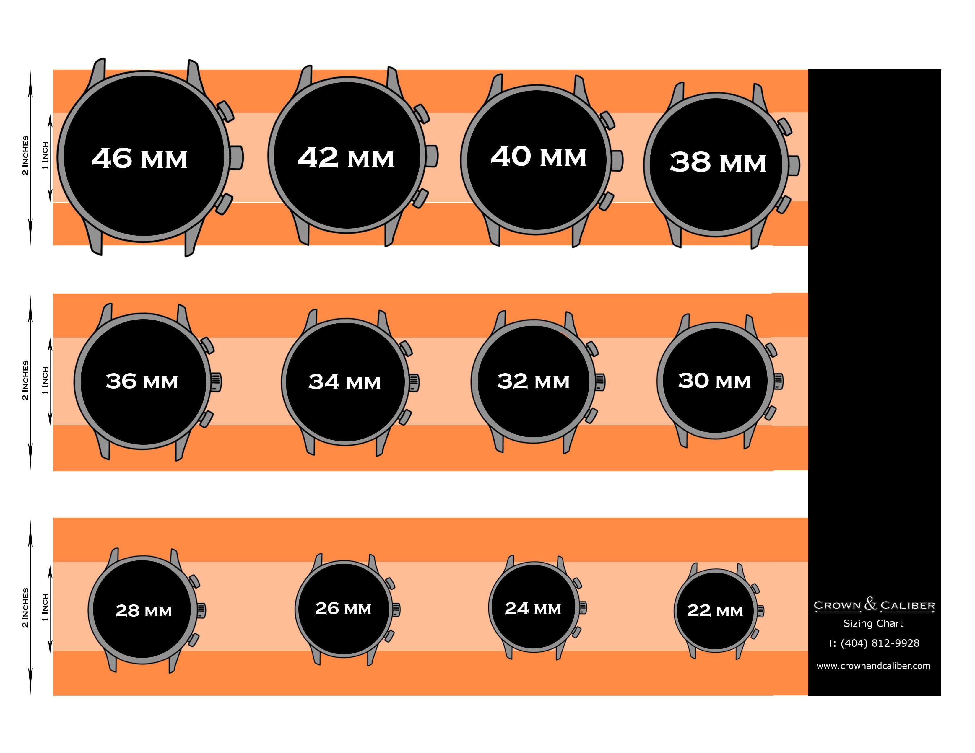 42mm watch actual size - Siteze