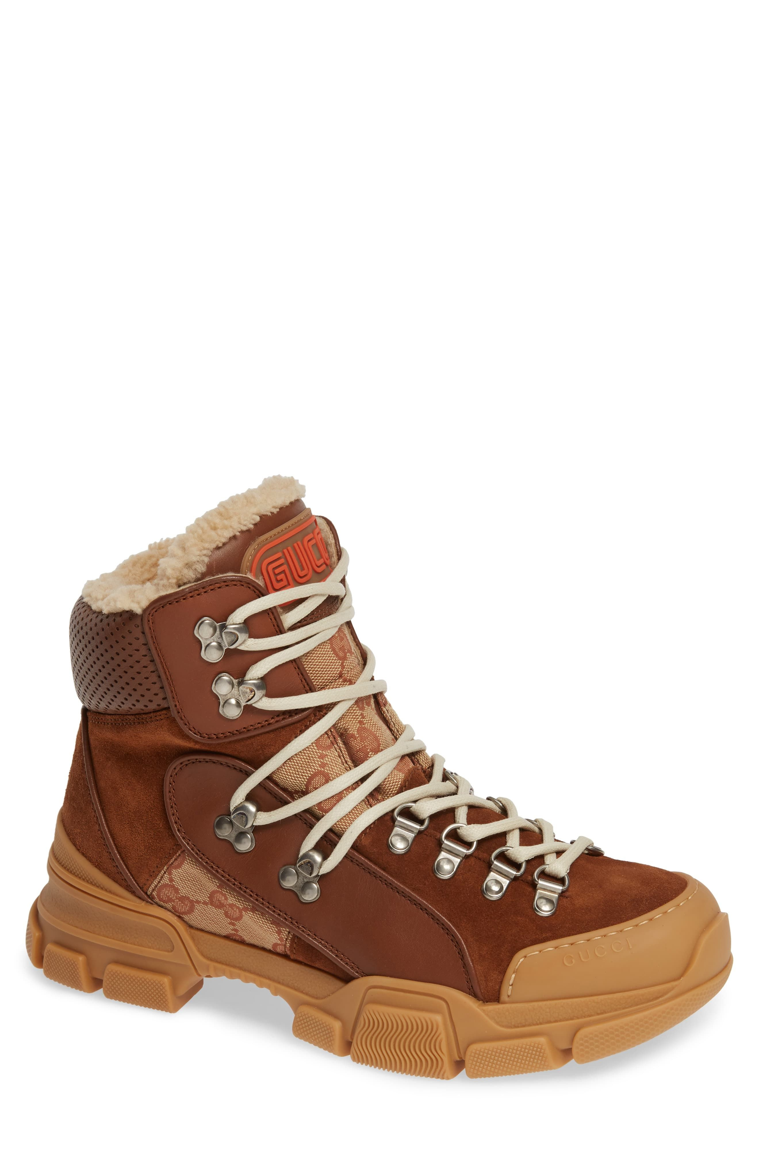 82a0f50c4d Men's Gucci Flashtrek Genuine Shearling Boot, Size 8.5US / 7.5UK ...