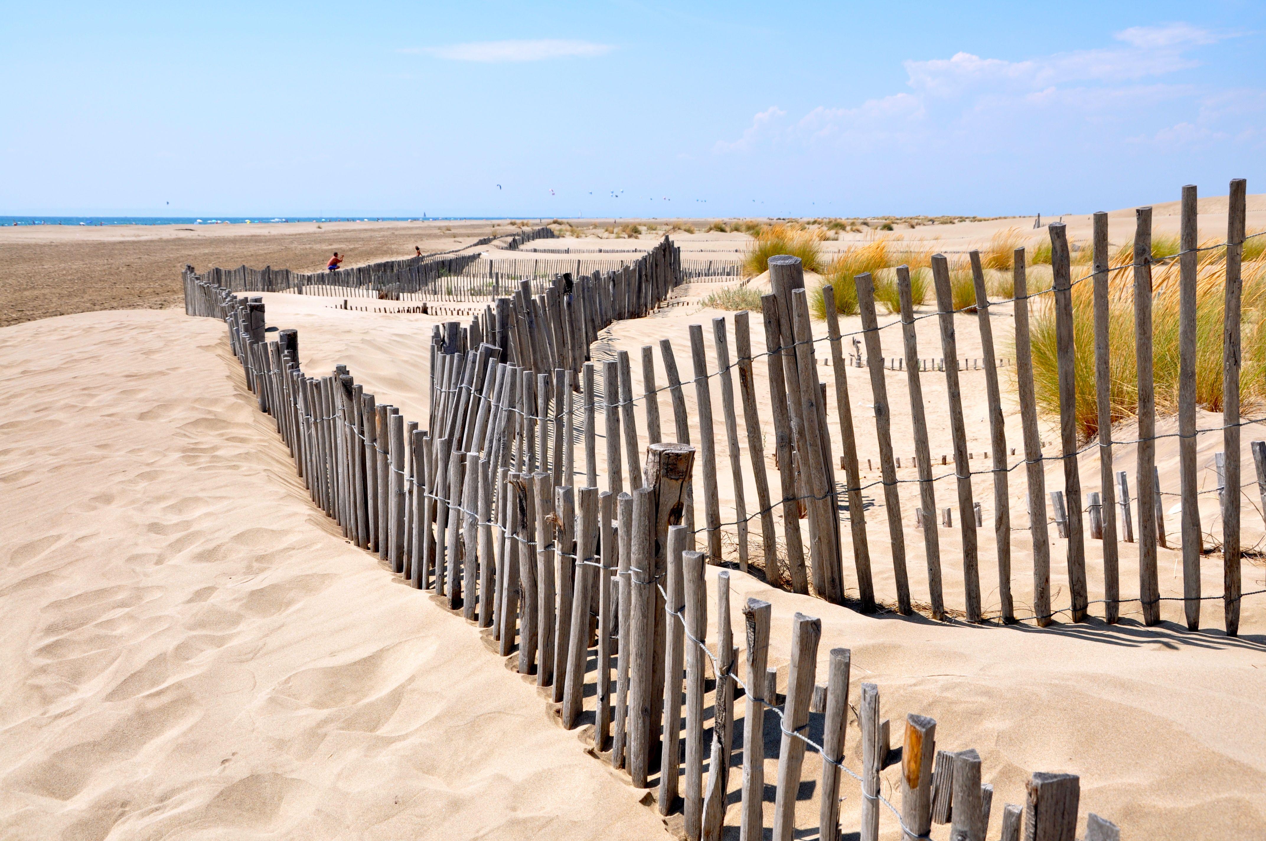 The beautifull l Espiguette beach near le Grau du Roi