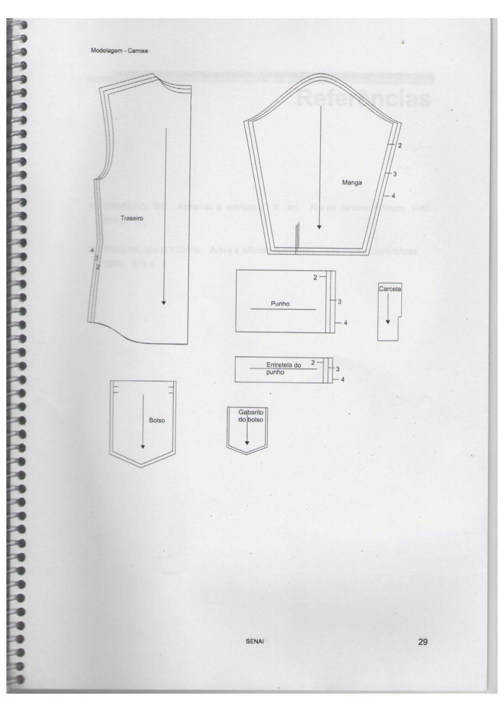 Apostila Do Senai Modelagem Curso De Costura Senai Costura