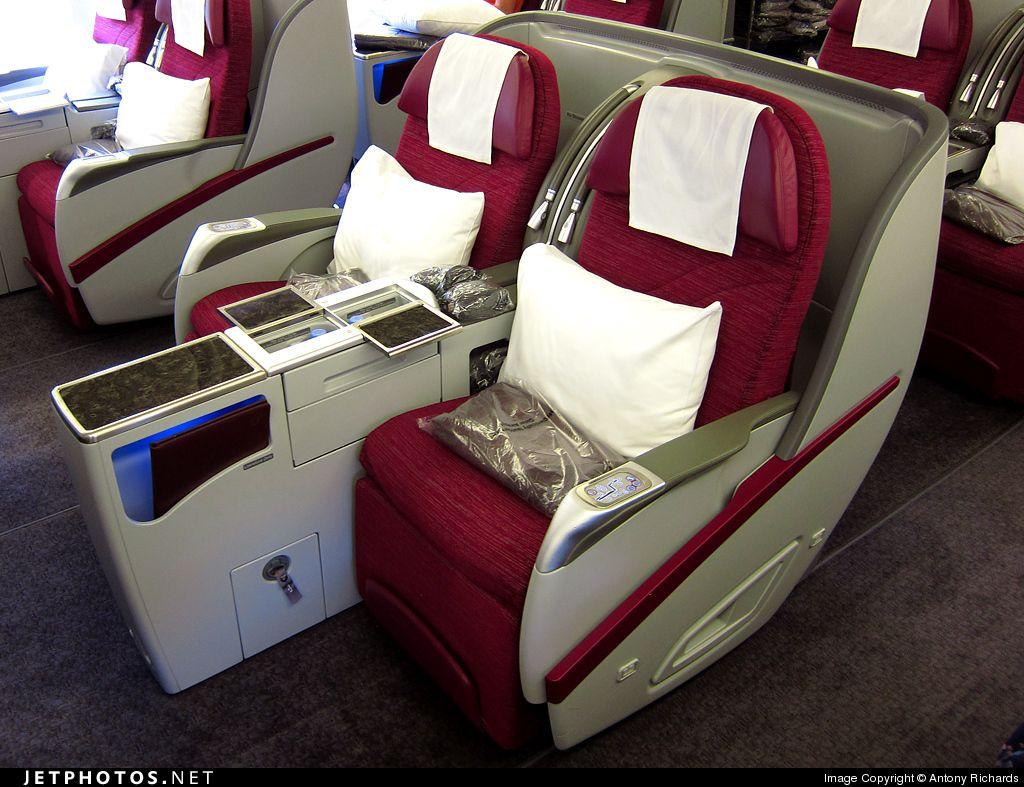 Qatar Airways Boeing 777 business class (With images