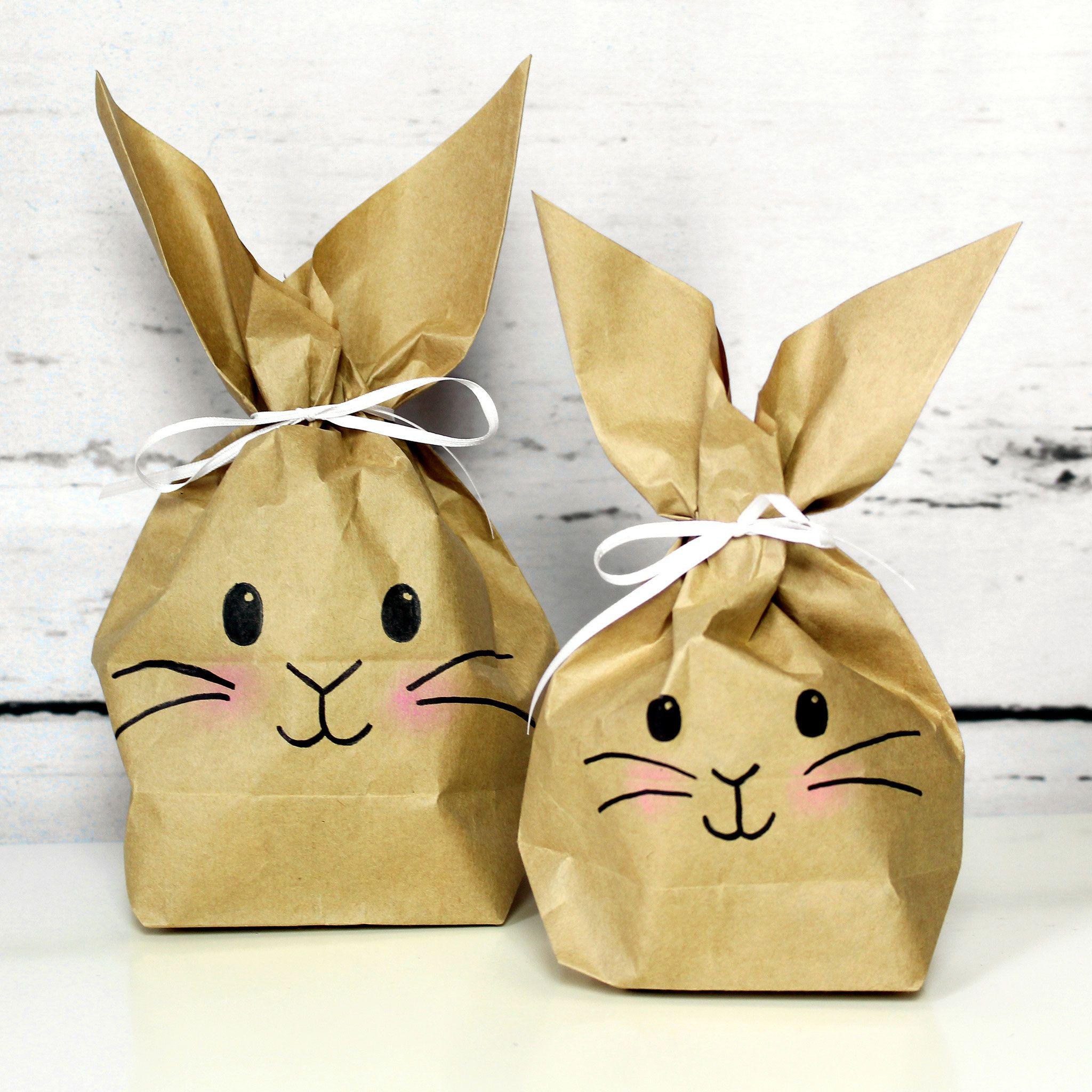Papiertüten, Ostern, Hasen, Osterhasen, Geschenkverpackung, handgemacht, handmade, DIY