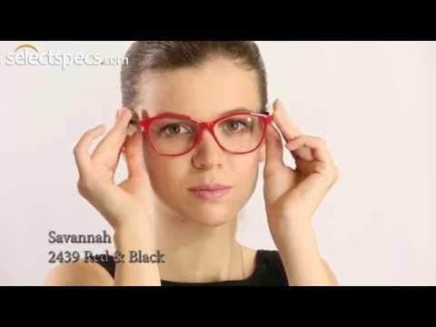 b609716370 Savannah 2439 £10 Red   Black Prescription Glasses by SelectSpecs.com -  YouTube