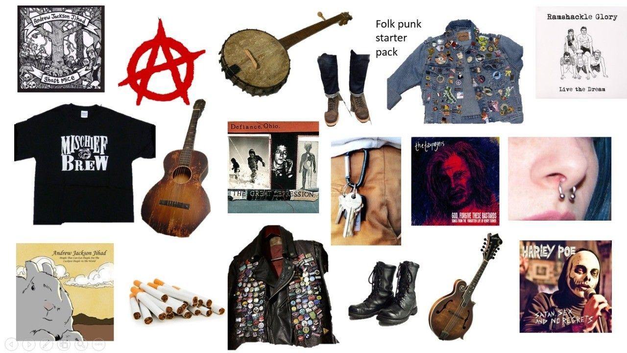 Folk Punk Starter Pack With Images Punk Crust Punk Folk