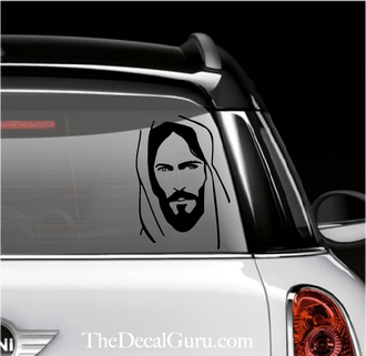 Face Of Jesus Car Decal Vinyl Pinterest Car Decal - Car decal maker online