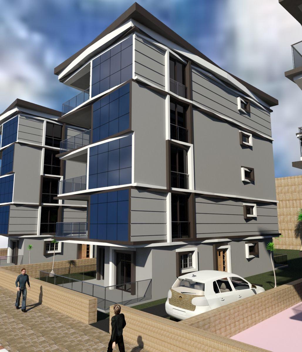 Architectural Exterior Residential Aparment Building Design İzmir   Turkey  By Mümin Bayar