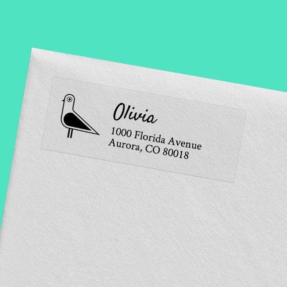 50+ Clear Return Address Labels // Custom Address Roll