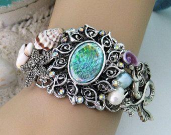 Mermaid Bracelet Jewelry Bracelets Cuff Ocean Beach Blue B285