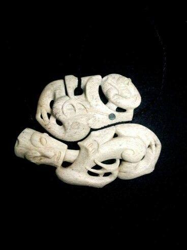 Maori carved bone