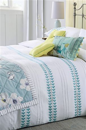 Teal Embroidered Bed Set From The Next Uk For The Home
