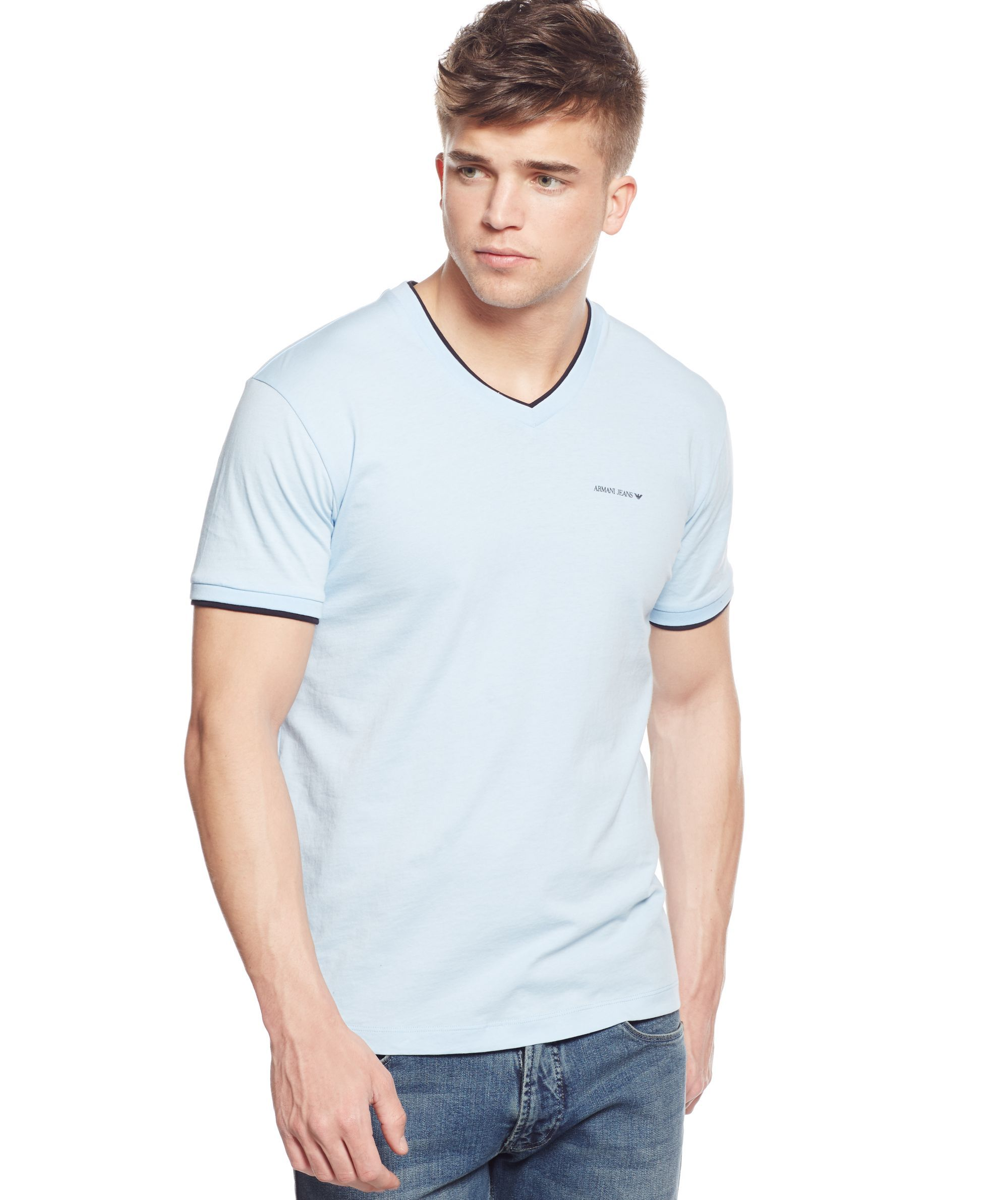 f3bdbf385077 Armani Jeans Double-Layer V-neck T-Shirt | Products