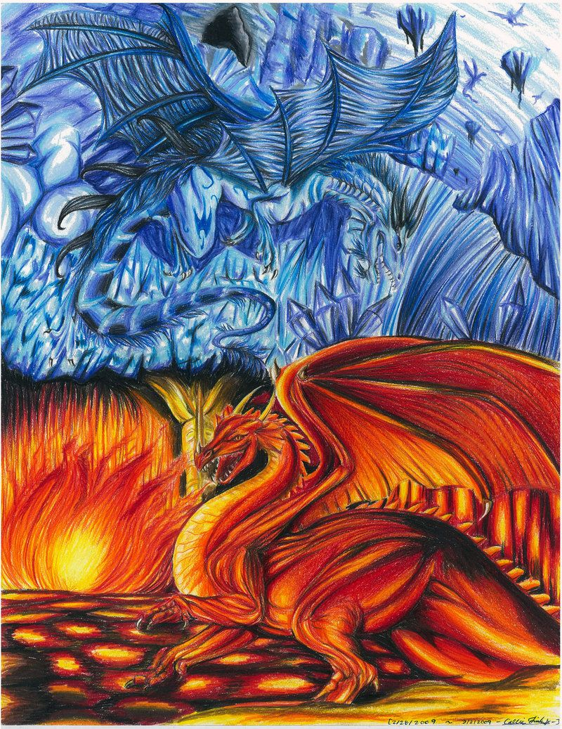 ice dragons vs fire dragons - Google Search | Draconis