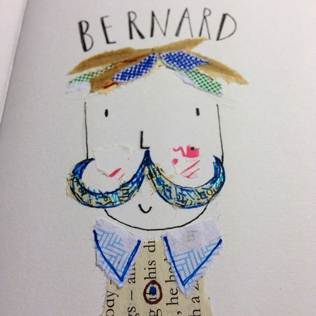 Meet Bernard and his moustache #people #characters #moustache #collage #illustration