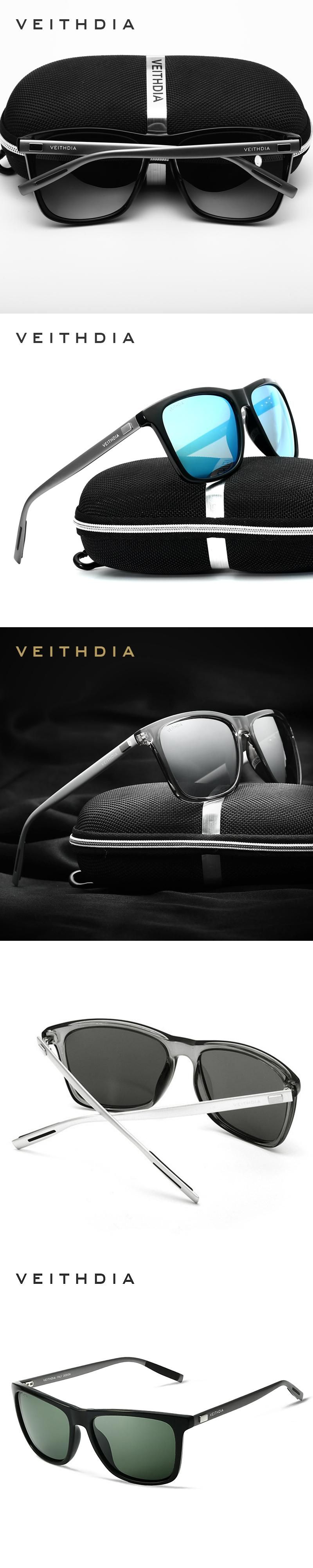 bc7b924b85 VEITHDIA Brand Retro Aluminum Sunglasses Unisex Polarized Lens Vintage  Eyewear Accessories Sun Glasses For Men Women 6108