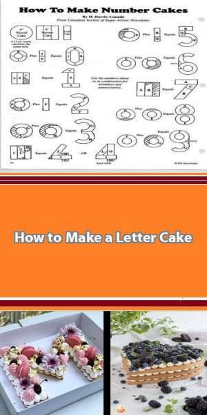 How to Make a Letter Cake Looking to make a letter cake for your next celebration? This easy step-by-step guide will walk you through how to make a letter cake. #lettercake