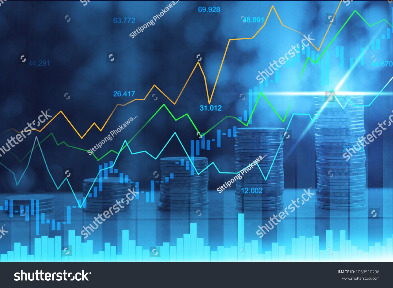 Stock Market Or Forex Trading Graph In Graphic Double Exposure Concept Suitable For Financial Investment Or Econom In 2020 Stock Market Economic Trends Double Exposure