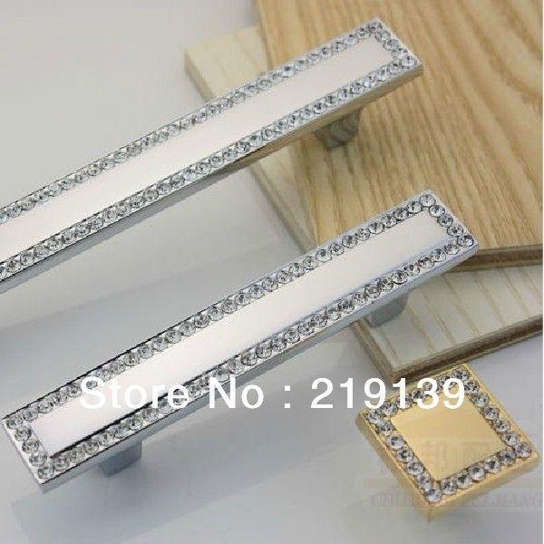 Bon $17u003d2PCS Crystal Zinc Alloy Furniture Kitchen Drawer Cabinet Pull Handles  Decorate Door Knobs Hardware
