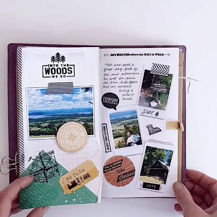 Travelers Notebook Flip Through #campingpictures