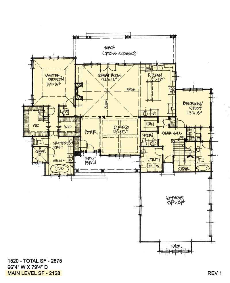 House Plan 1520 Two Story Craftsman House Plans House Plans Farmhouse Best House Plans