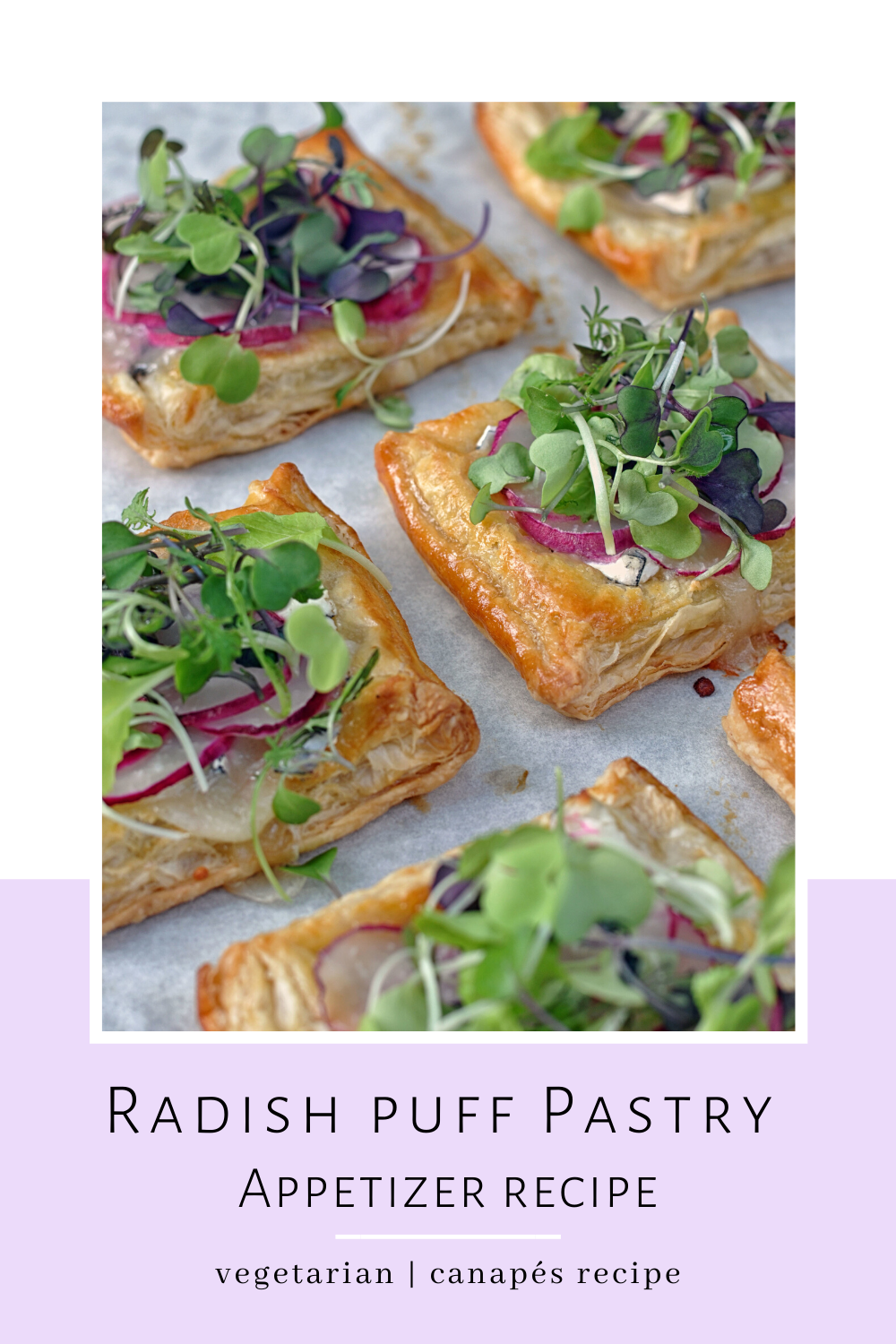 Radish Puff Appetizer - this healthy table