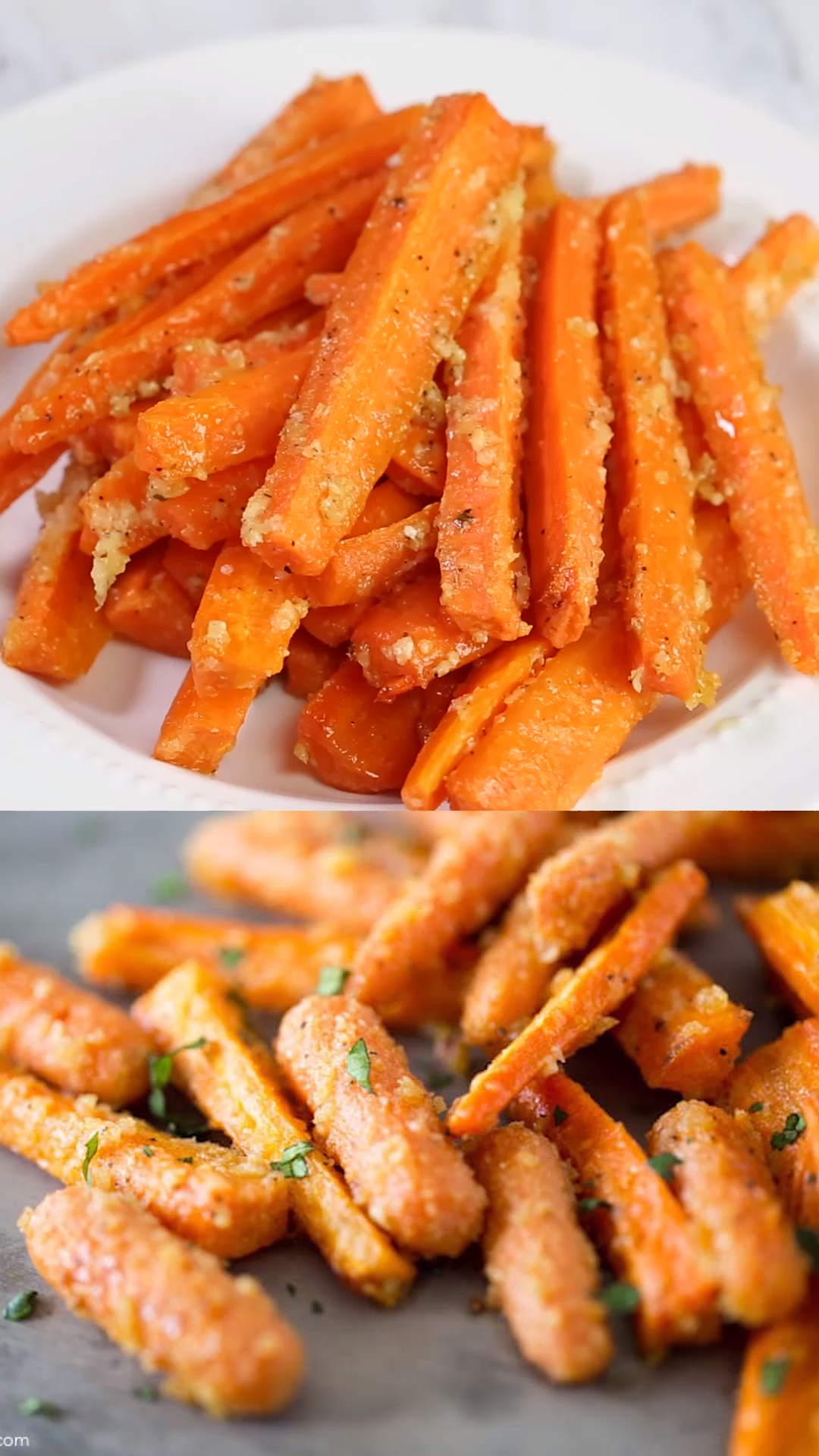 Photo of Parmesan Garlic Roasted Carrots