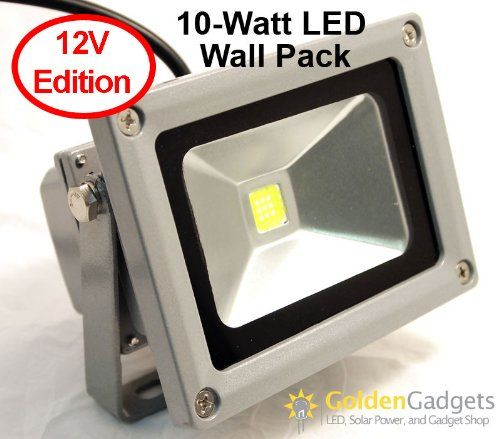 12v 10 Watt Led Outdoor Flood Light Golden Gadgets Http Www Amazon Com Dp B005ihvsn8 Ref Cm Sw R Pi Led Outdoor Flood Lights Outdoor Flood Lights Wall Packs