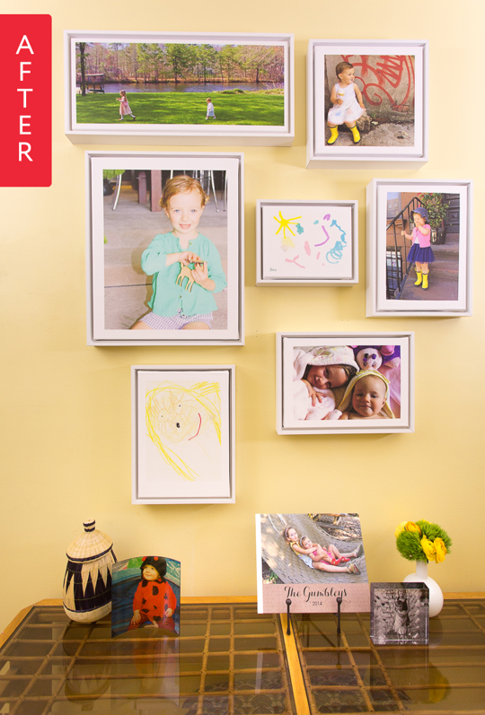Before & After: Family Gallery Wall Goes Glam | Gallery wall ...