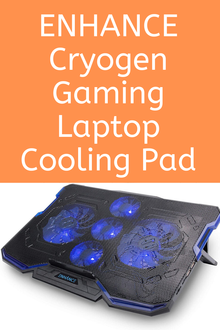 Enhance Cryogen Gaming Laptop Cooling Pad Fits Up To 17 Inch