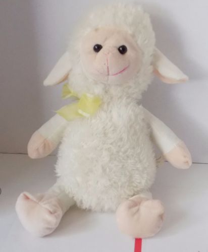 15-034-JUST-FOR-YOU-Megatoys-SOFT-PLUSH-Lamb-Sheep-w-Yellow-Bow-11
