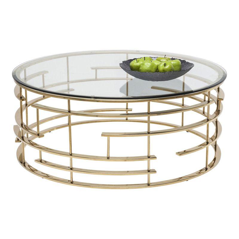 Soffbord Rund Mässing i Ring Furniture Design Soffbord, Tabeller och Soffbord glas