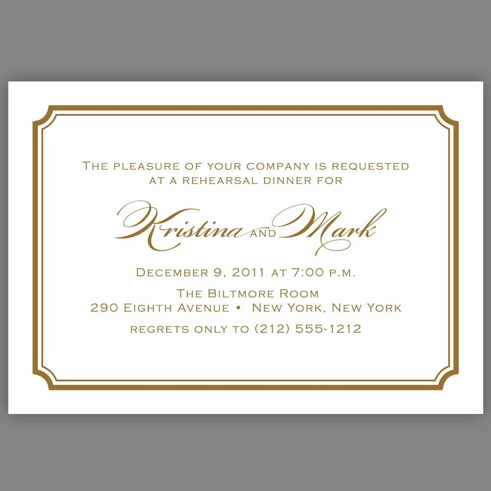 Dinner Invitation Email Template Elegant formal Dinner Inv in