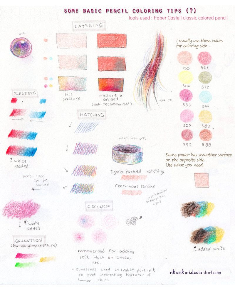 Tutorial Pencil Color Basic Color Pencil Drawing Pencil Drawing Tutorials Color Pencil Art