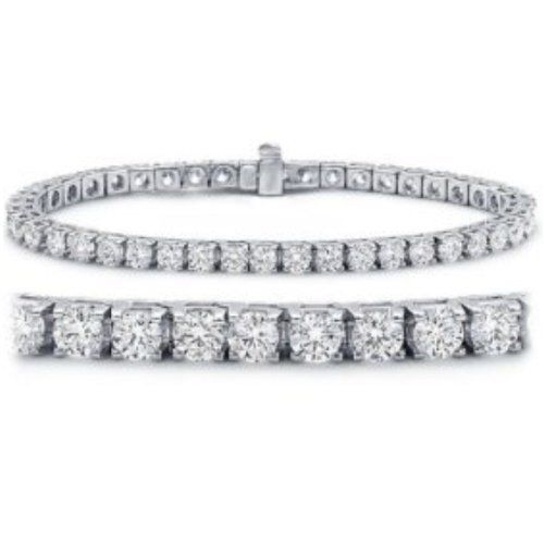 3 Carat Classic Round Diamond Tennis Bracelet In 14k White Gold 62 Stones I J Color Si Clarity Tennis Bracelet Diamond Tennis Bracelet Gold Bracelet For Women