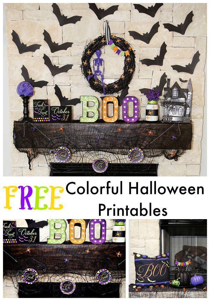 FREE Halloween Decoration Printables - Colorful Halloween DIY and - free halloween decorations printable