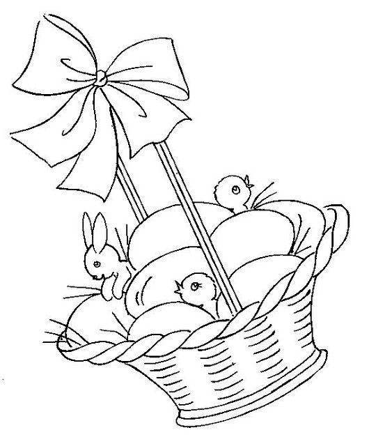 Easter Basket Vintage Embroidery Transfer Pattern   spring & easter ...