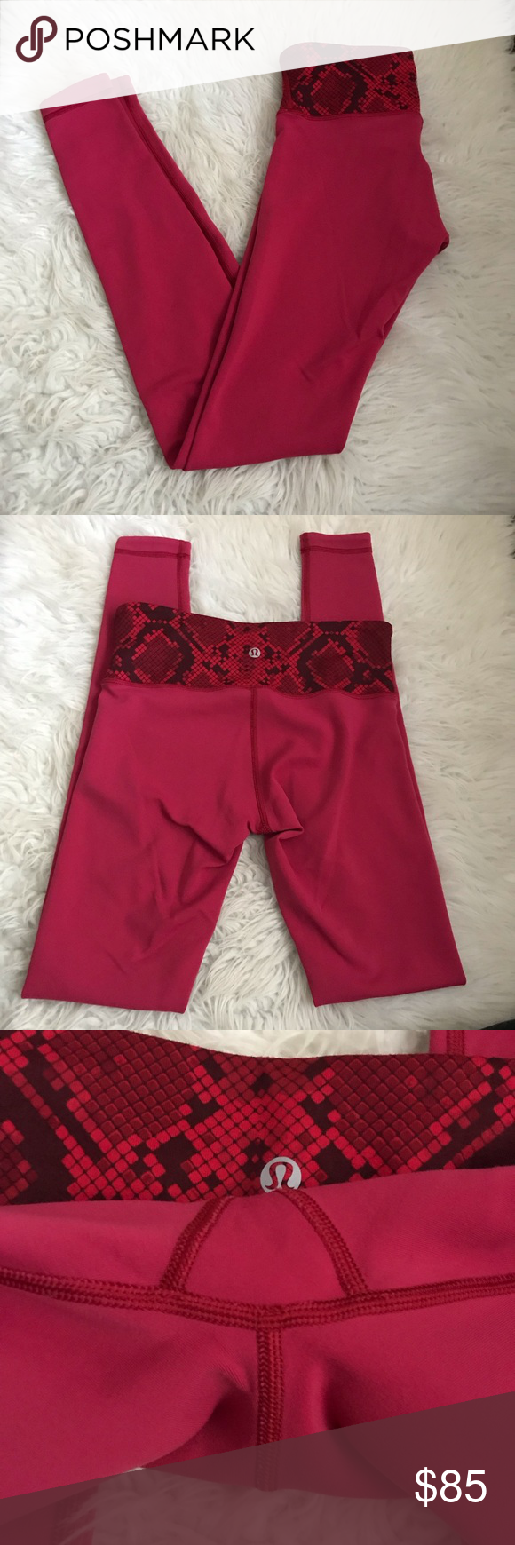de34e549b2 Reversible with no flaws or pilling! ❌ No Trades! Reasonable offers only! lululemon  athletica Pants Leggings. Lululemon Wunder Under Pant Cranberry ...