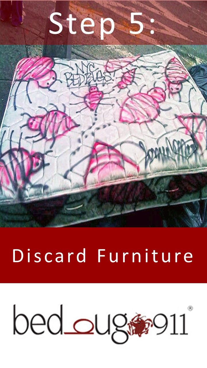 Discard any furniture that cannot be salvaged, but make