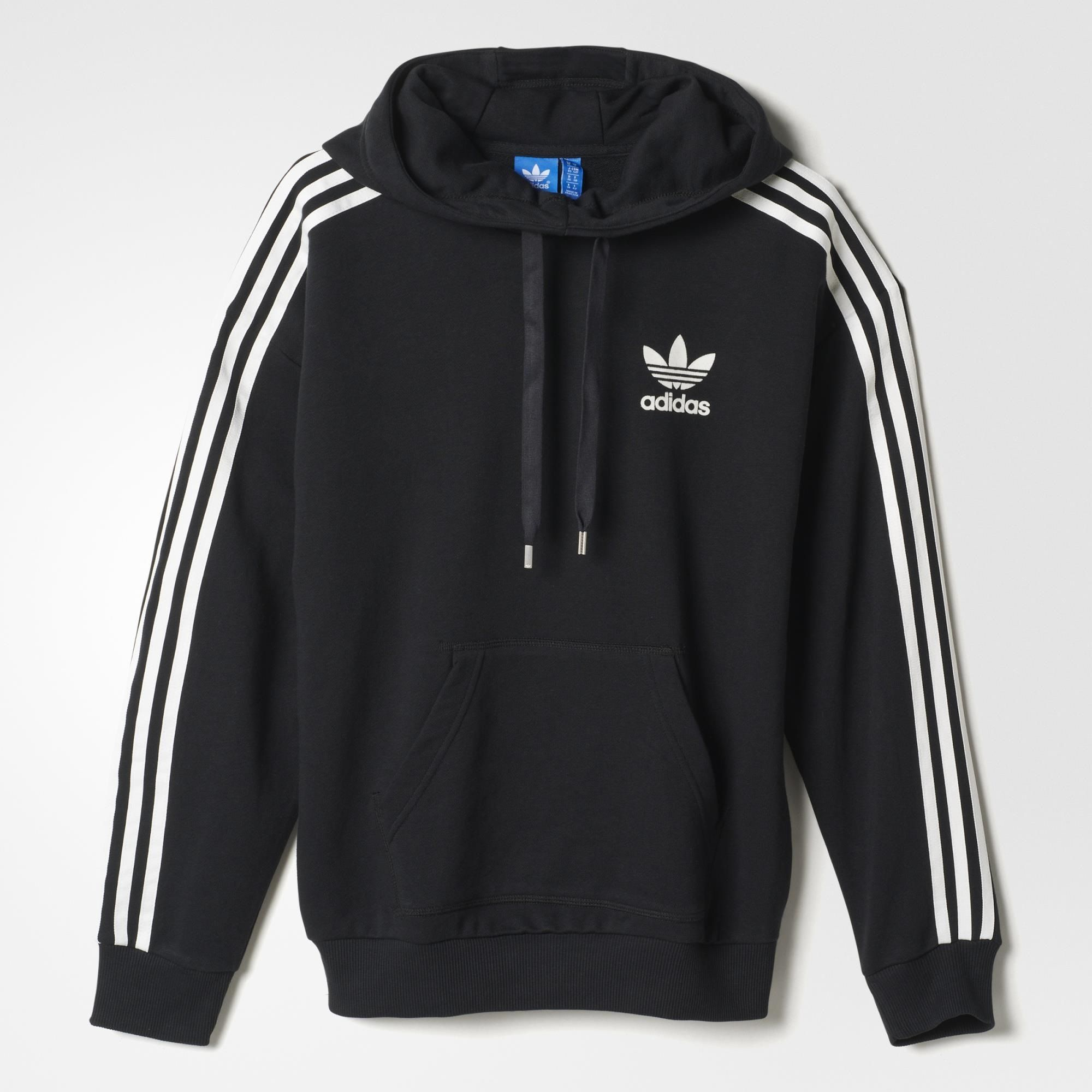 adidas 3-Stripes Hoodie - Black | adidas US | Trendy ...