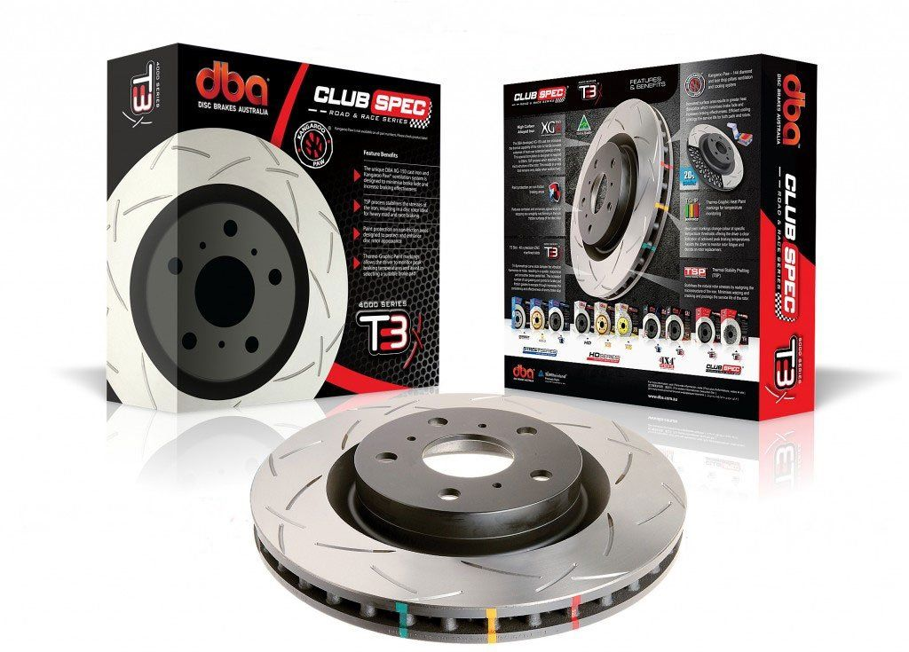DBA 4000 Series T3 Slotted Rear Rotors - 03-05 Infiniti G35, Nissan 350Z, 11-12 Leaf & 08-13 Rogue #CarMods