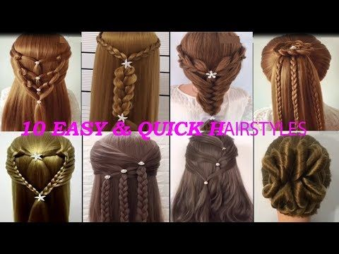 QUICK and EASY hairstyles for long  New hairstyles  Peinados faciles