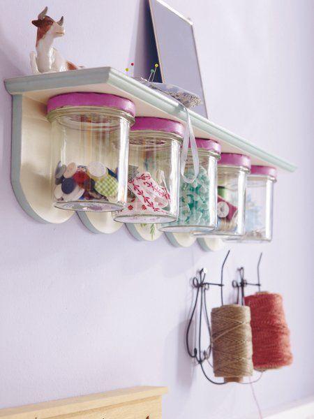 Schraubgläser-Regal #DIY #Dekoration für die #Küche - küchen wand deko