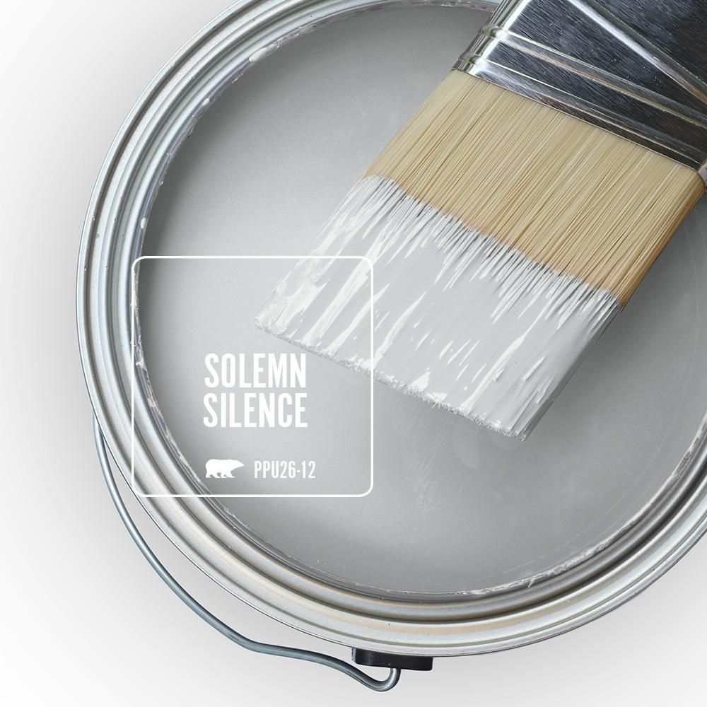 Behr premium plus ultra 1 gal ppu26 12 solemn silence - Eggshell paint in bathroom ...