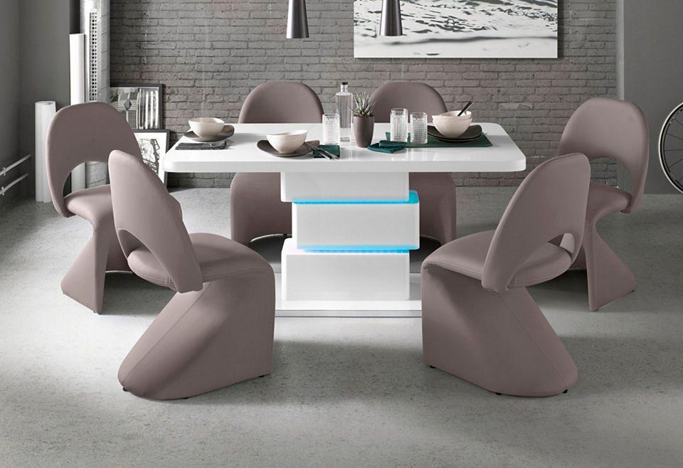 Säulen-Esstisch mit LED-Beleuchtung, Breite 140 oder 160 cm Jetzt - küche beleuchtung led