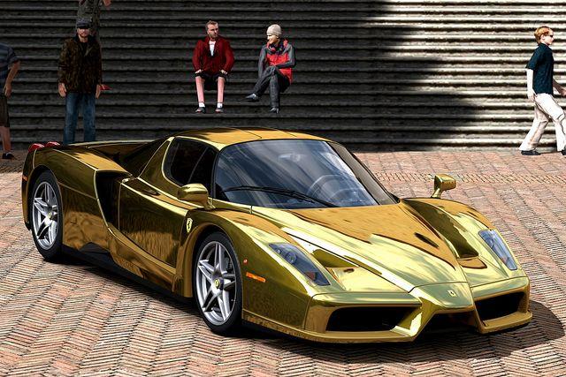 Ferrari Enzo Gold chrome