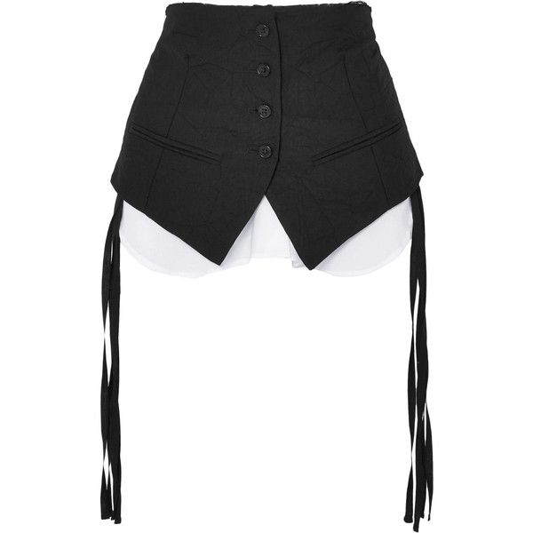 Layered Cotton-blend Poplin Belt - Black Ann Demeulemeester hEhwCDc2U
