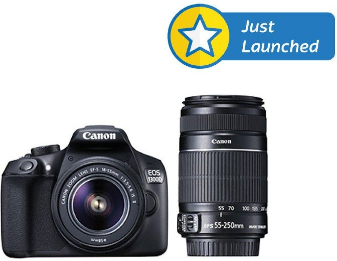 Canon Eos 1300d Dslr Camera With 18 55 Is Ii 55 250 Is Ii Lens Price In India Specs Reviews Offers Coupons Topprice In Dslr Camera Dslr Eos